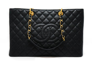 Chanel Black Caviar Grand Shopping Tote GST XL Tote