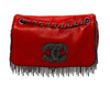 Chanel Red Calfskin Rare Fringe Flap Bag