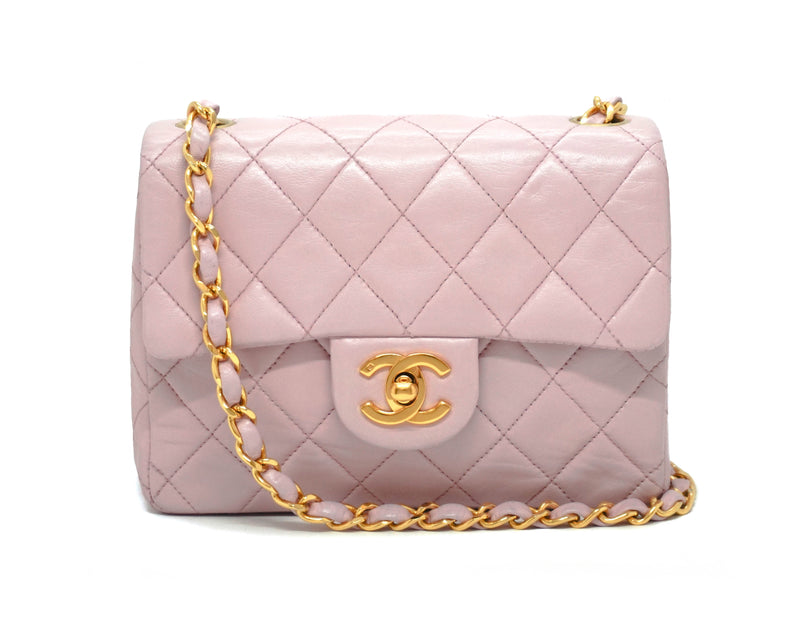 Chanel Vintage Pink Lambskin Classic 2.55 Mini Flap Bag