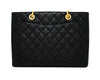 Chanel Black Caviar Grand Shopping Tote GST Tote