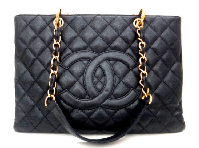 Authentic Chanel Caviar Black Grand Shopper Tote (GST)