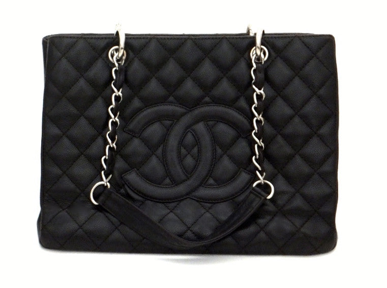 Authentic Chanel Caviar Dark Brown Grand Shopper Tote (GST)