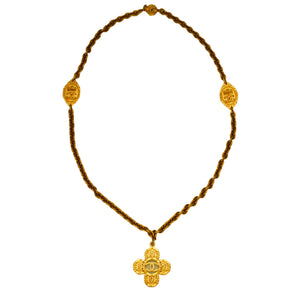 Authentic Chanel Vintage Iconic Gold Cross Necklace