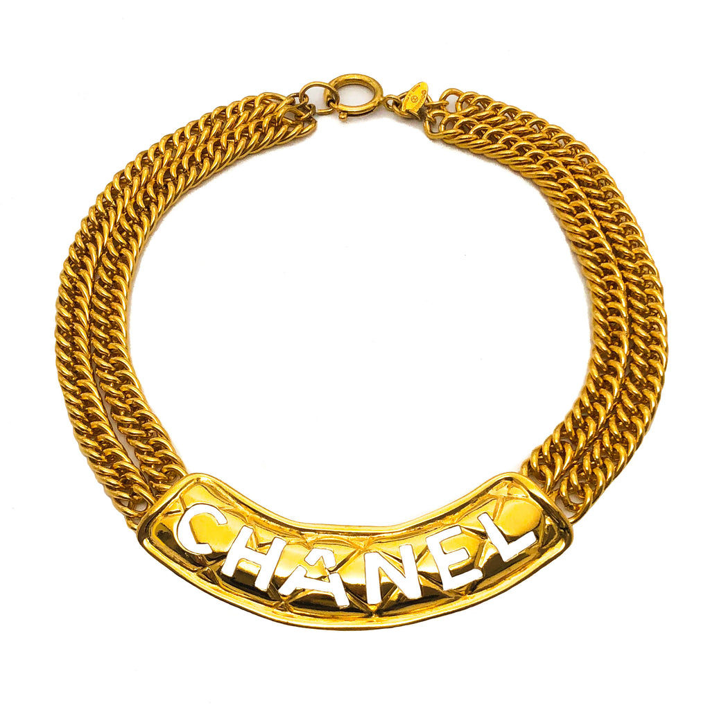 Chanel Vintage Rare Classic Cutout Necklace