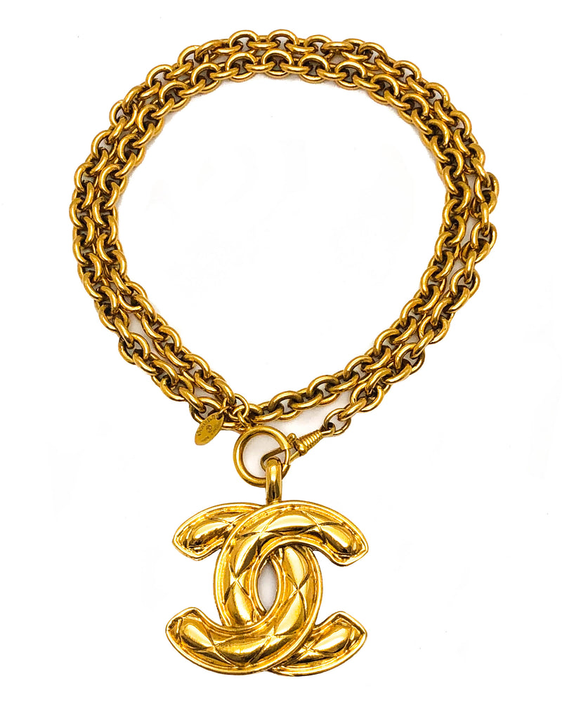 Chanel Vintage Rare Classic Quilted XL Necklace