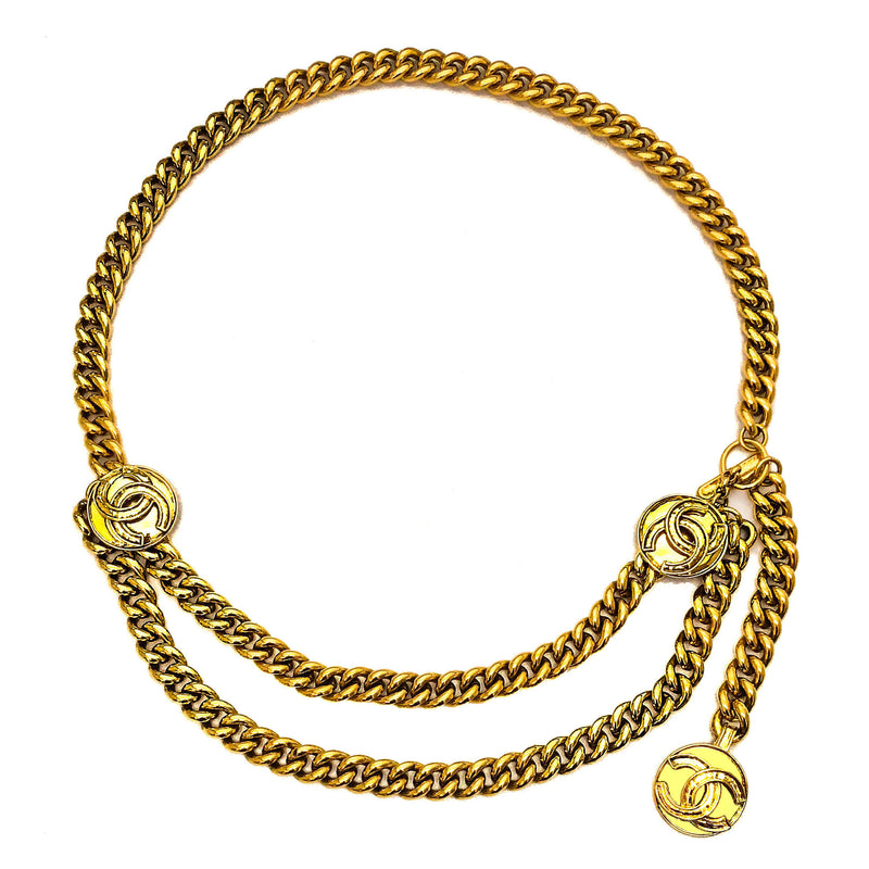 Chanel Vintage Gold Classic Logo Belt/Necklace