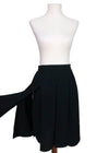 Chanel Vintage Rare Black Classic Swing Skirt