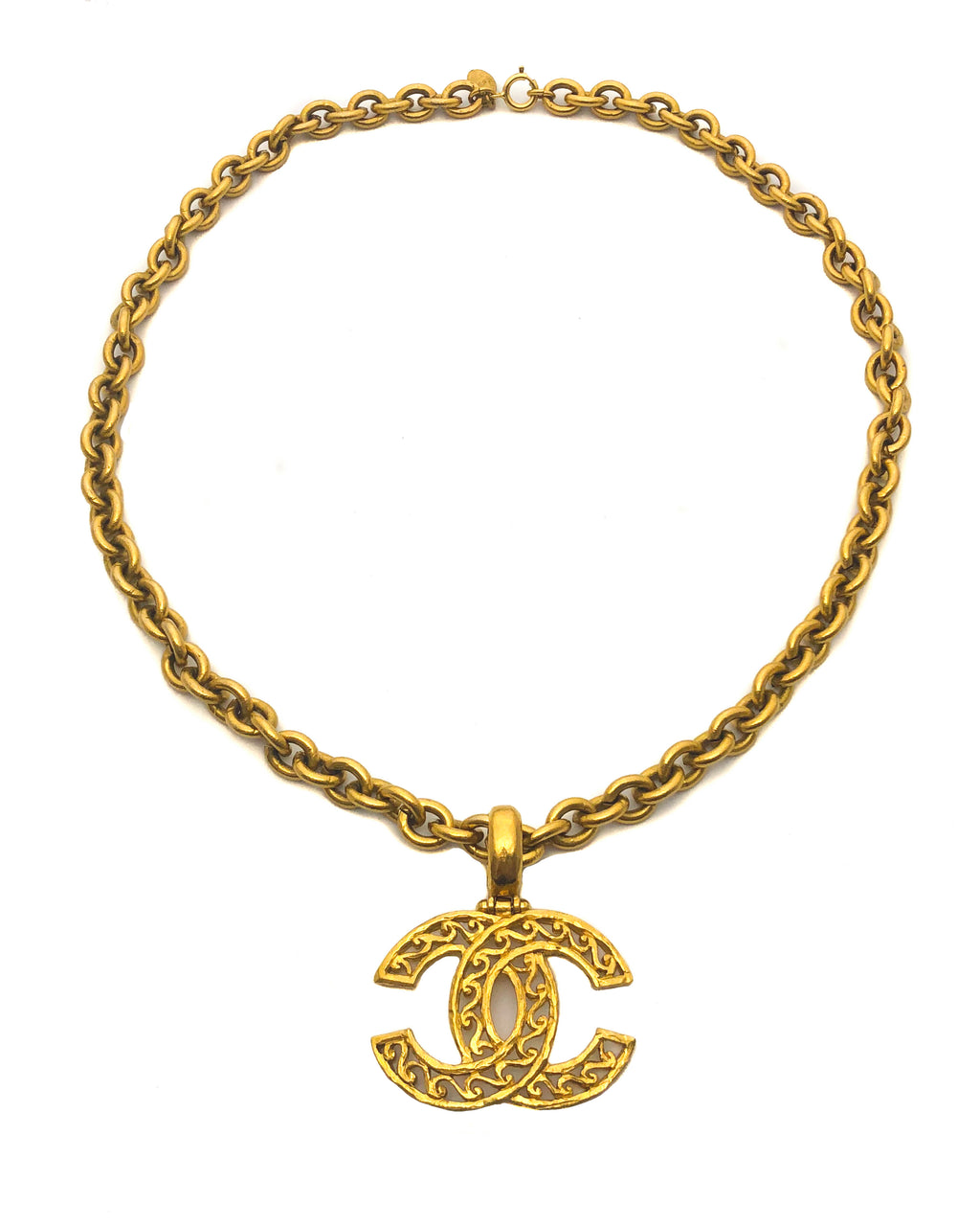 Chanel Vintage CC Charm Classic Necklace