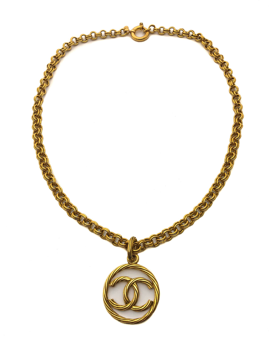 Chanel Vintage Circle CC Classic Necklace