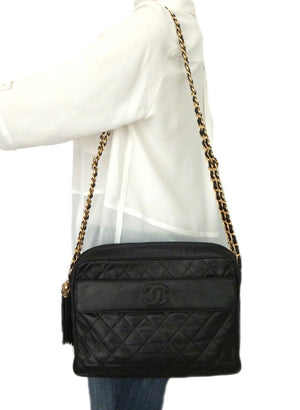 Authentic Chanel Vintage Black Camera Style Handbag