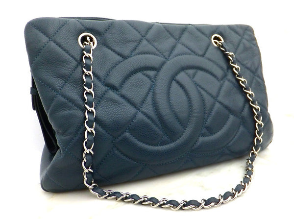 Authentic Chanel Blue Caviar Timeless Tote