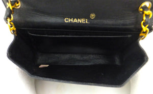 Authentic Chanel Vintage Jumbo CC Emblem Lizard Flapover