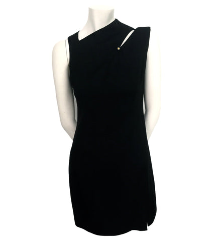 Authentic Chanel Vintage Dark Navy Cutout Dress