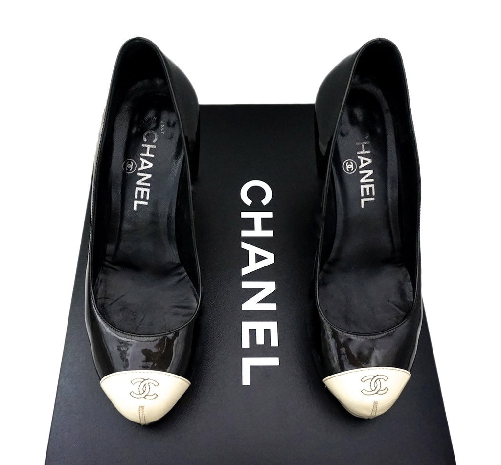 Authentic Chanel Classic Runway Patent Pumps