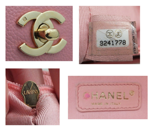 Authentic Chanel Cerf Executive Pink Caviar Tote