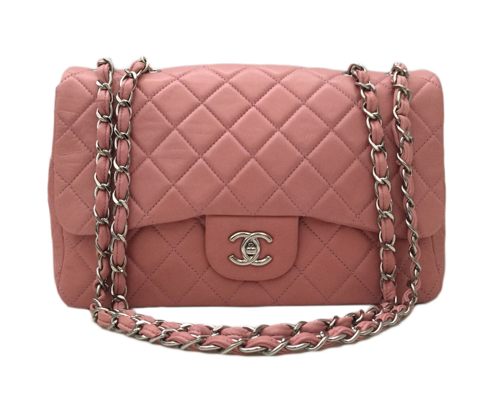 Authentic Chanel Pink Lambskin Jumbo – BRAND NEW IN BOX