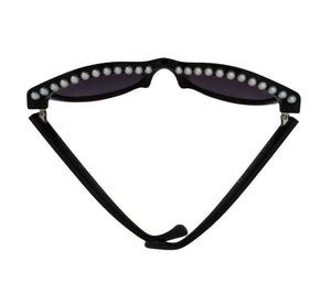 Authentic Chanel Pearl Cat Eye Runway Sunglasses
