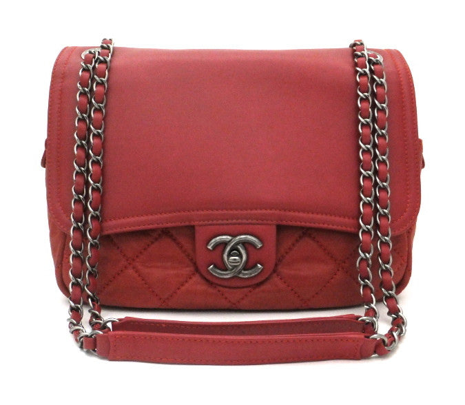 Authentic Chanel Brick Red Modern Flapover