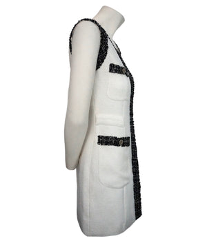 Chanel Classic Black & White Boucle Tweed Runway Dress