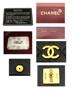 Chanel Vintage Black Lambskin Mini Classic Full Flap Bag