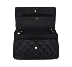 Authentic Chanel Black Wallet On Chain (WOC)