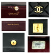 Chanel Vintage Black Lambskin Medium Classic Full Flap Bag