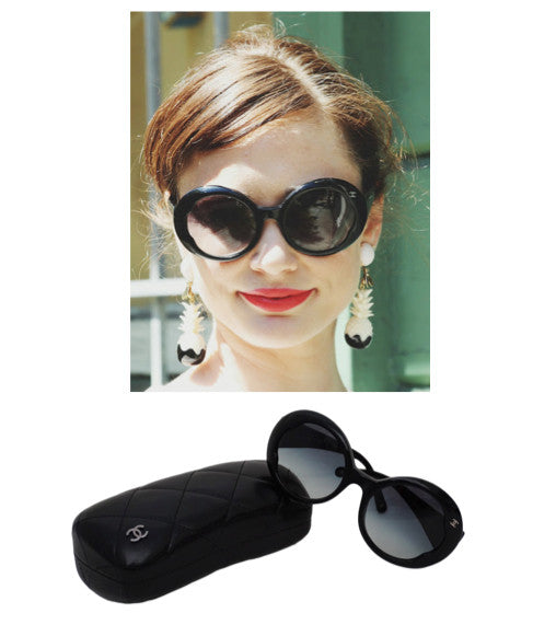 Authentic Chanel Rare Iconic Jackie O Runway Sunglasses