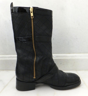 Authentic Chanel Military Runway Boots Sz 6