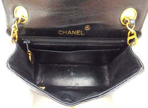 Authentic Chanel VNTG MINI 2.55 LIZARD Flapover
