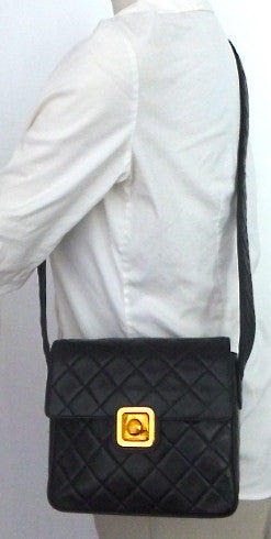 Authentic Chanel Vintage Quilted Mini Flapover