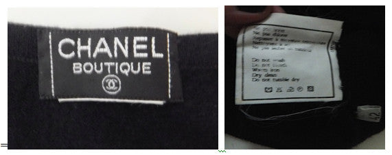 Authentic Chanel Cashmere Cap-sleeve Black Sweater