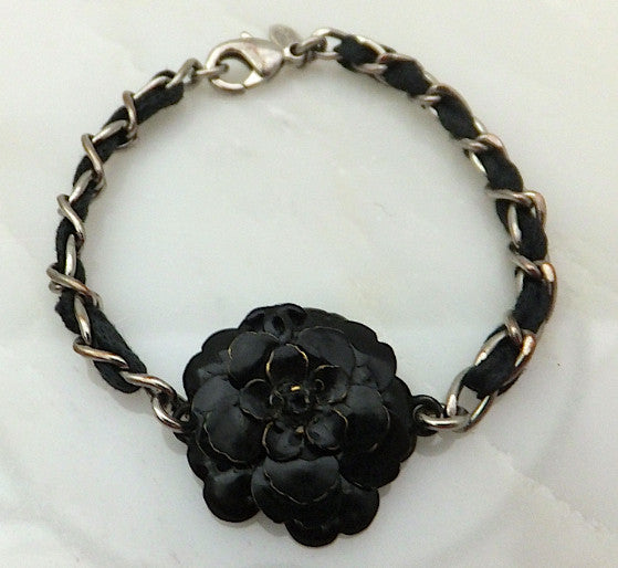 Authentic Chanel Camellia Flower Bracelet