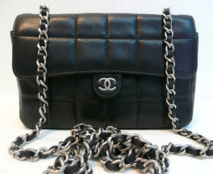 Authentic Chanel Black Quilted Wallet On Chain (WOC) Handbag NEW!