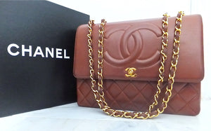 Authentic Chanel Vintage Whiskey XXL Maxi Jumbo