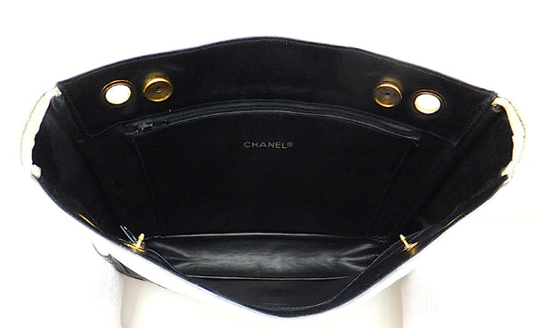 Authentic Chanel Vintage Black & White Tote