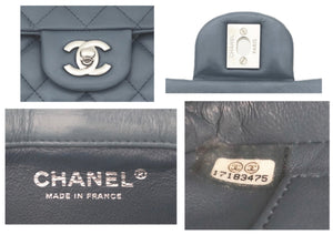 Chanel Blue Quilted Lambskin Mini Flap Bag