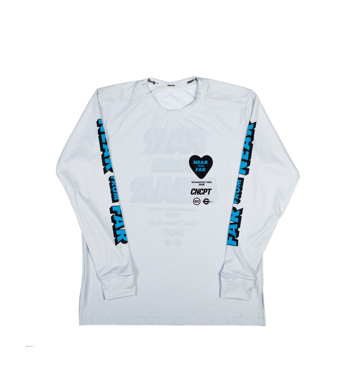 NEAR FROM FAR - VIRGIL LONG SLEEVE TECH TEE - OFF WHITE