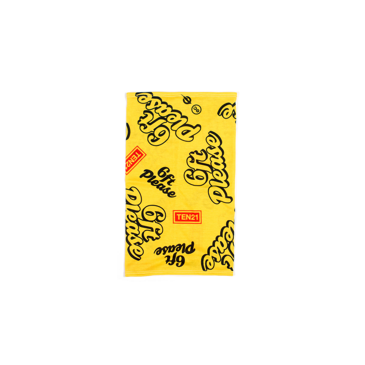 6FT PLEASE - NECK GAITER - YELLOW
