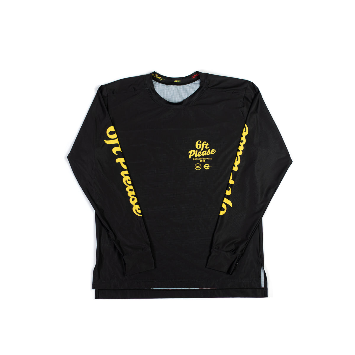 6FT PLEASE - VIRGIL LONG SLEEVE TECH TEE - BLACK