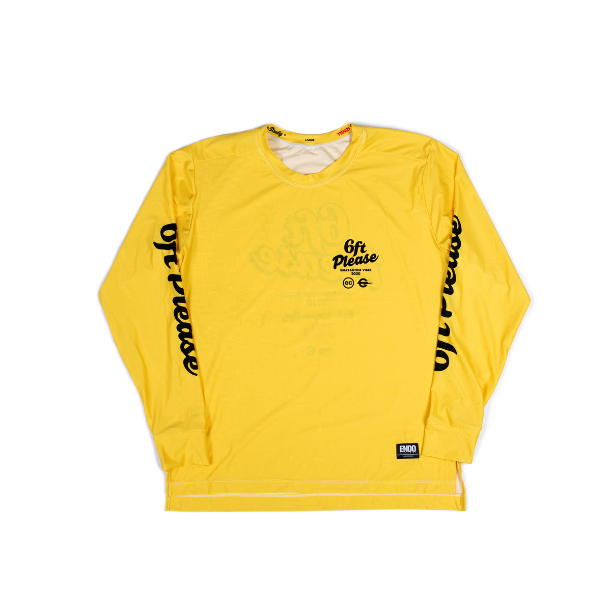 6FT PLEASE - VIRGIL LONG SLEEVE TECH TEE - YELLOW