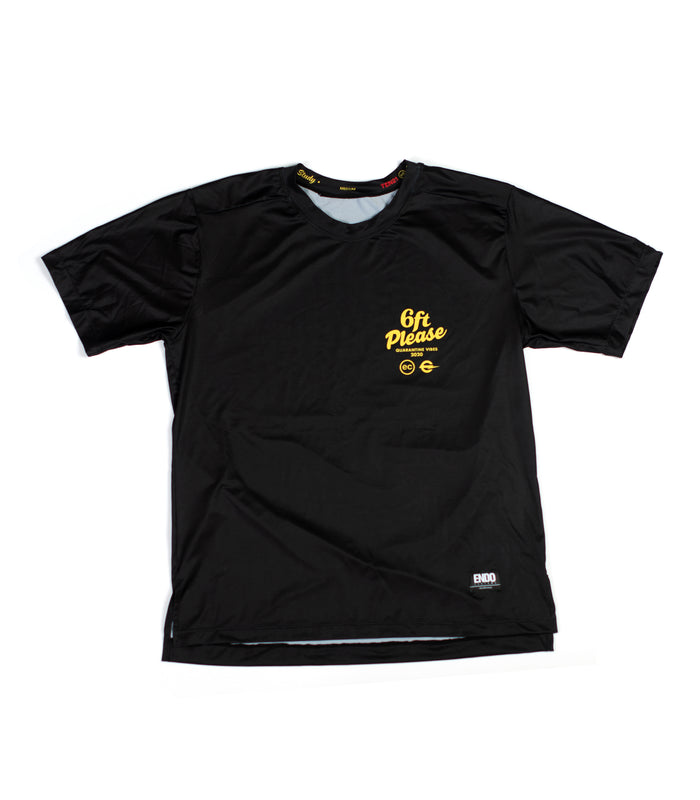 6FT PLEASE - VIRGIL SHORT SLEEVE TECH TEE - BLACK