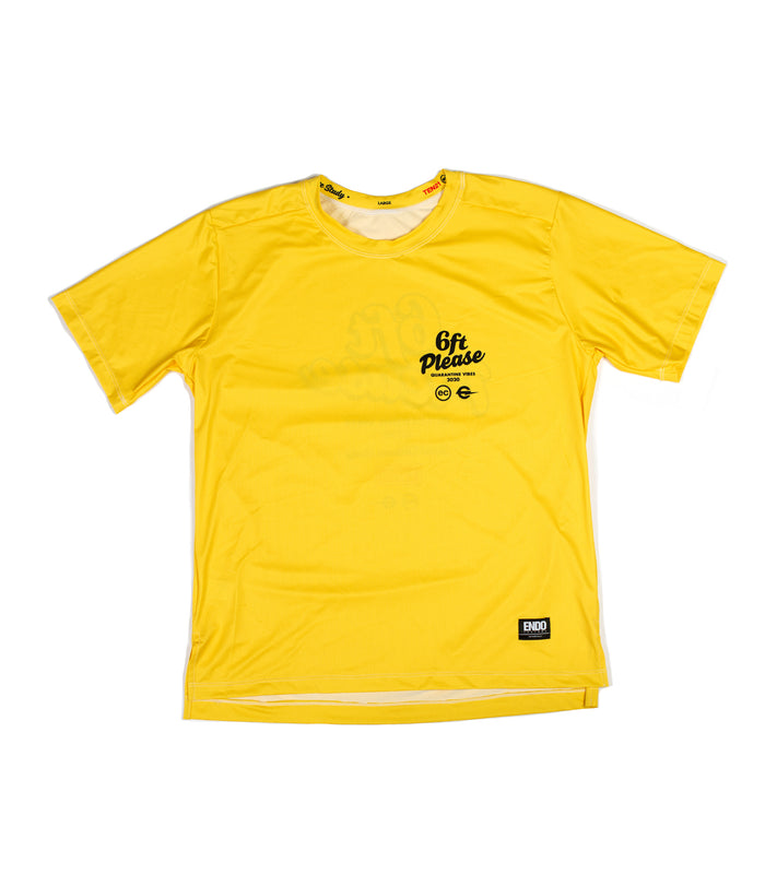6FT PLEASE - VIRGIL SHORT SLEEVE TECH TEE - YELLOW