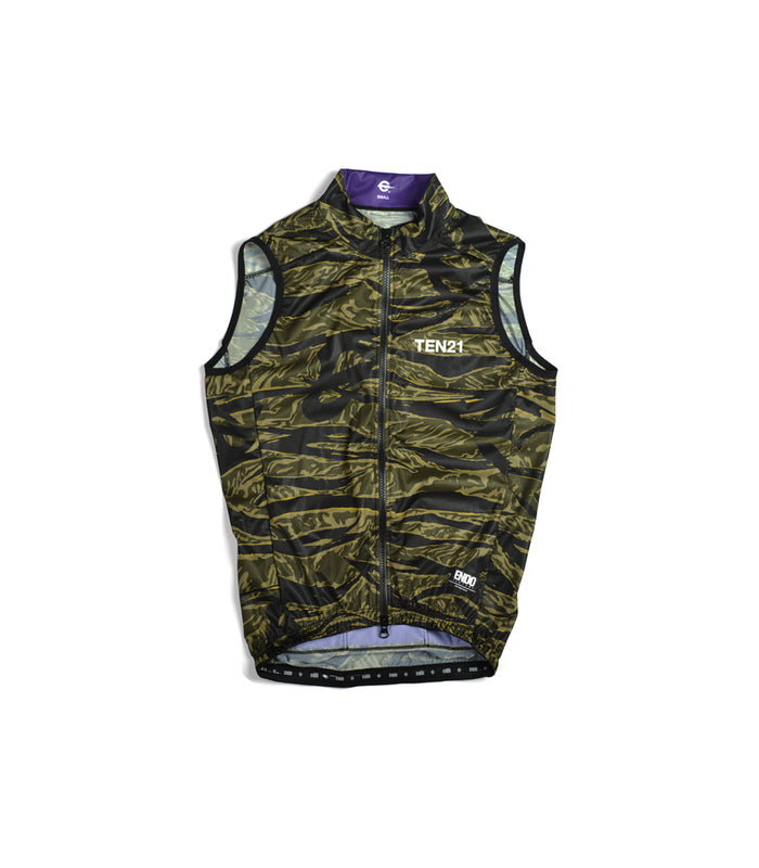 TEN21 - AMESBURY VEST - GREEN TIGER CAMO