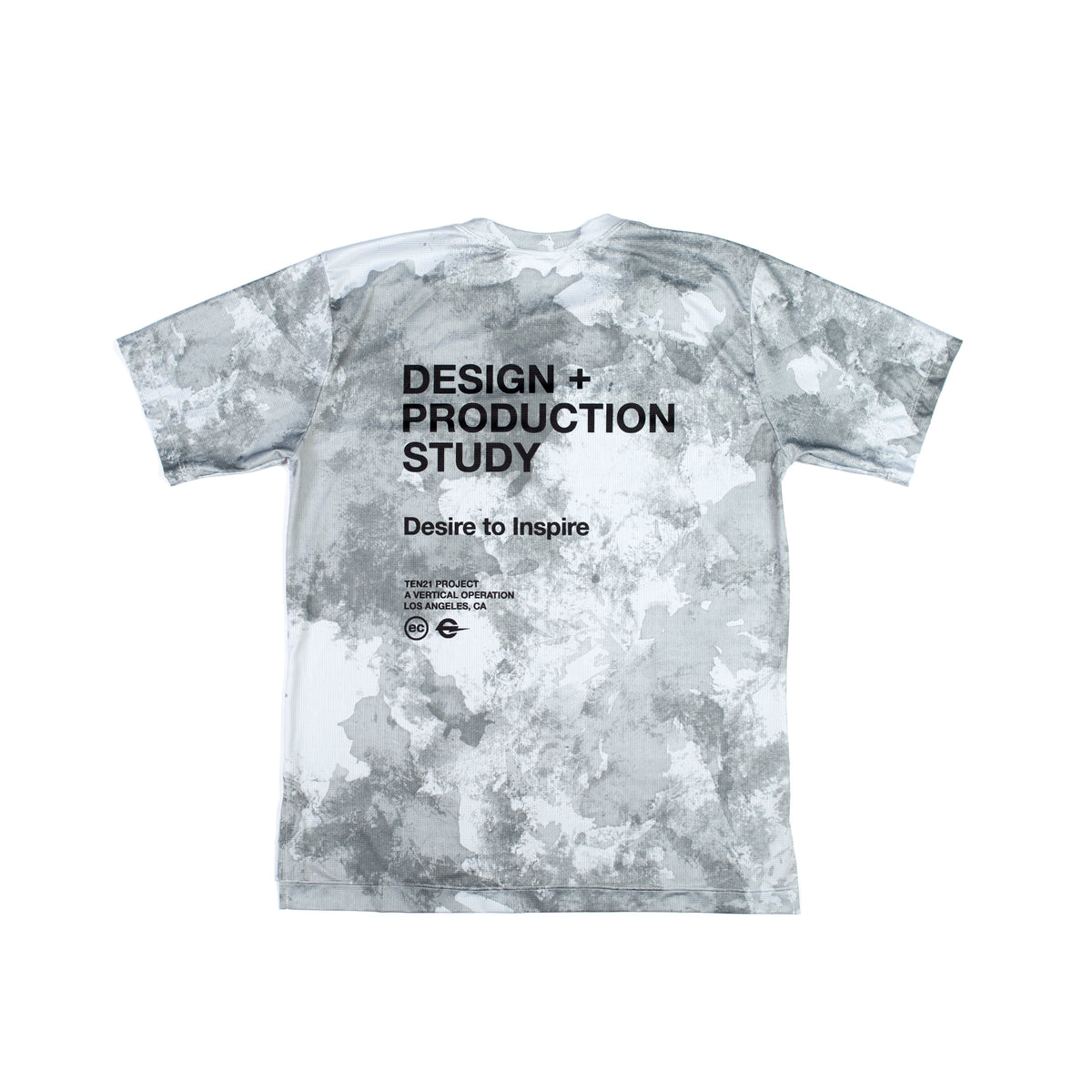 CONCRETE - VIRGIL SHORT SLEEVE TECH TEE - LIGHT