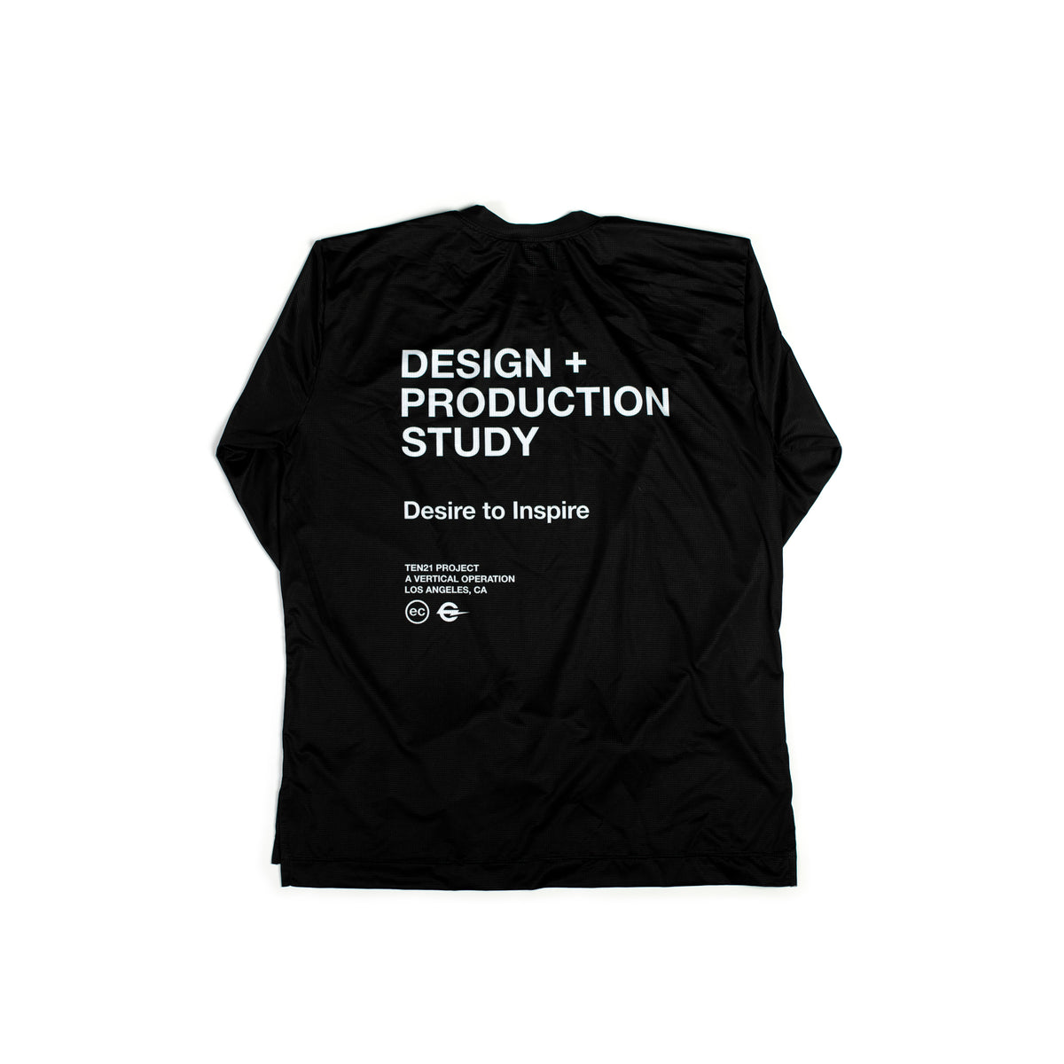 TEN21 - VIRGIL LONG SLEEVE TECH TEE - BLACK