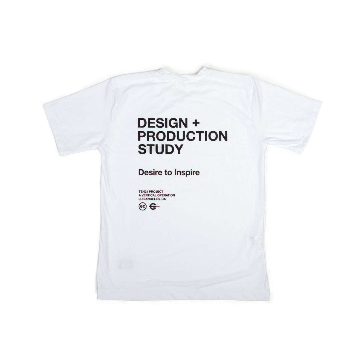 TEN21 - VIRGIL SHORT SLEEVE TECH TEE - WHITE