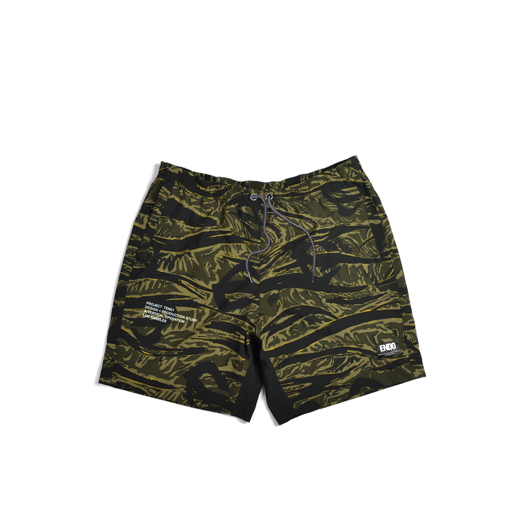 TEN21 - HIGUERA SHORT - GREEN TIGER CAMO