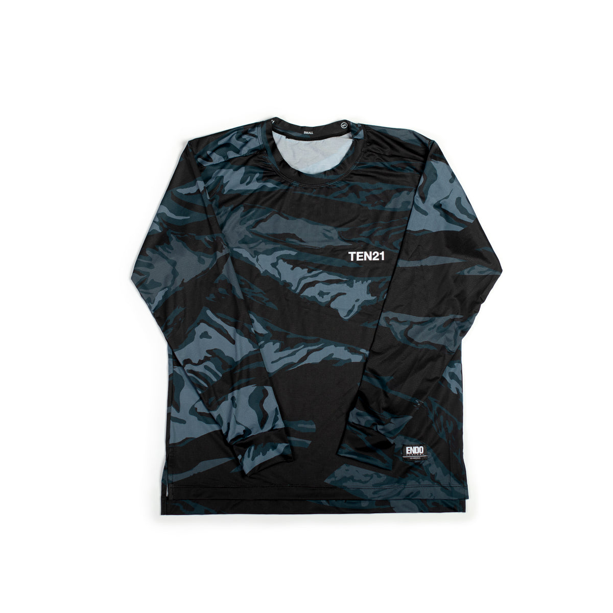 MAG CAMO - VIRGIL LONG SLEEVE TECH TEE - BLUE