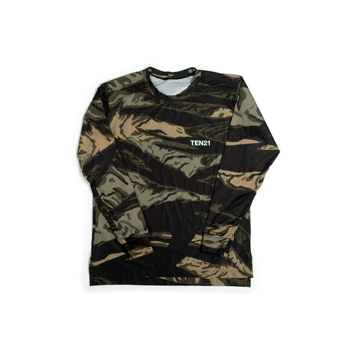 TEN21 - VIRGIL LONG SLEEVE TECH TEE - GREEN CAMO