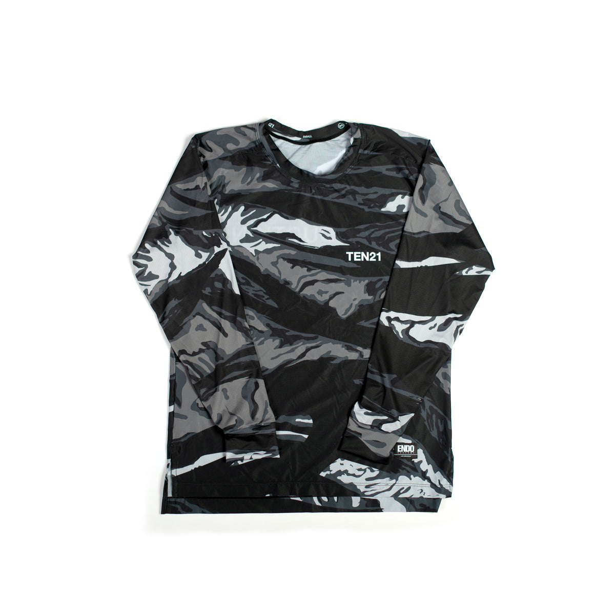 TEN21 - VIRGIL LONG SLEEVE TECH TEE - GREY CAMO